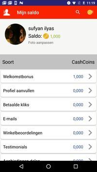 NuCash.be screenshot 6