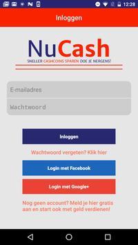 NuCash.be screenshot 1