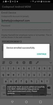 Codeproof MDM for Android screenshot 3