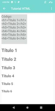 HTML Portuguese Tutorial screenshot 2