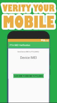 PTA IMEI VERIFICATION poster