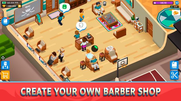 Idle Barber Shop Tycoon poster