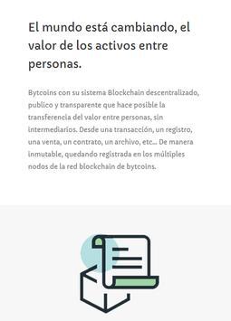 Bytcoins (BYT) - Sistema Blockchain en español screenshot 1
