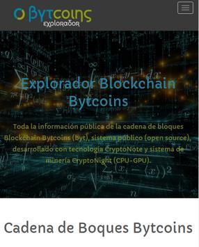 Bytcoins (BYT) - Sistema Blockchain en español screenshot 4