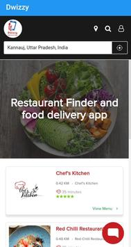 Dwizzy - Restaurant Finder and Food Delivery App poster