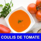 Coulis de tomate avec calories recettes français. icon