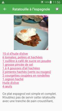 Coulis de tomate avec calories recettes français. screenshot 5