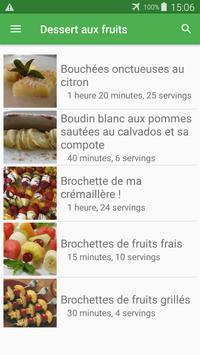 Dessert aux fruits avec calories recettes français screenshot 6