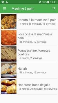 Machine à pain avec calories recettes en français. screenshot 4