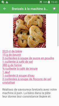 Machine à pain avec calories recettes en français. screenshot 1