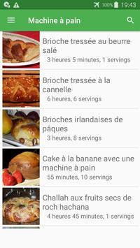 Machine à pain avec calories recettes en français. screenshot 2