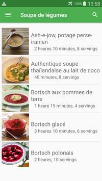 Soupe de légumes avec calories recettes. poster
