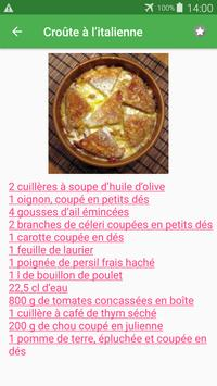 Soupe de légumes avec calories recettes. screenshot 5