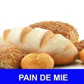 Pain de mie avec calories recettes en français. icon