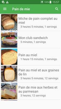 Pain de mie avec calories recettes en français. screenshot 4