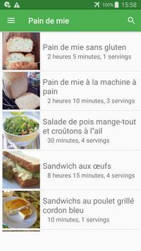Pain de mie avec calories recettes en français. screenshot 7