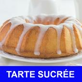 Tarte sucrée avec calories recettes en français. icon