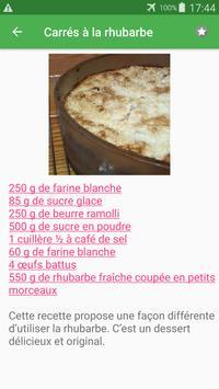 Tarte sucrée avec calories recettes en français. screenshot 1