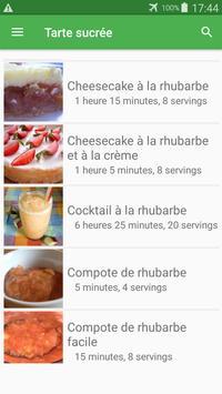 Tarte sucrée avec calories recettes en français. screenshot 2