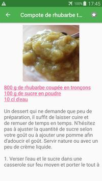 Tarte sucrée avec calories recettes en français. screenshot 5