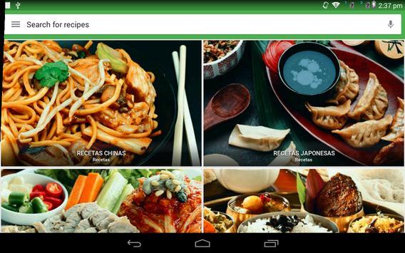 Recetas Asiáticas captura de pantalla 9