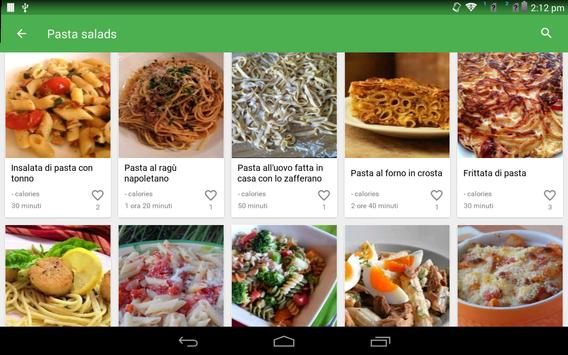 13 Schermata ricette di pasta gratis