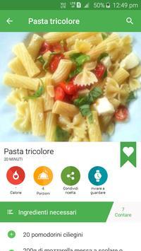 1 Schermata ricette di pasta gratis