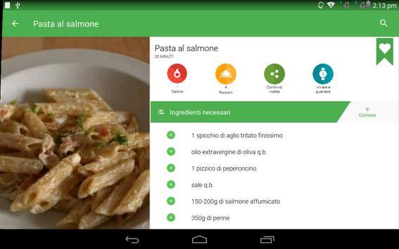 6 Schermata ricette di pasta gratis