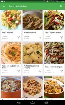 9 Schermata ricette di pasta gratis