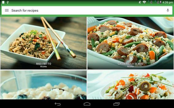 6 Schermata Ricette di riso