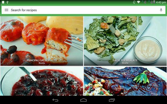 14 Schermata ricette salsa gratis