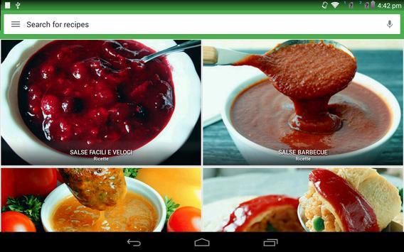 8 Schermata ricette salsa gratis