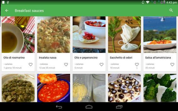 9 Schermata ricette salsa gratis
