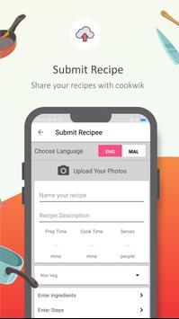 Cookwik App, Recipes in Malayalam, English screenshot 2