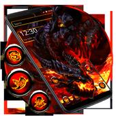 Cool fire dragon theme icon