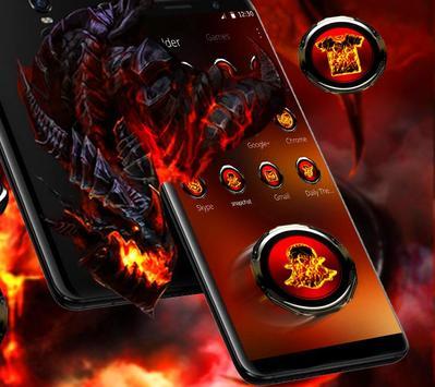 Cool fire dragon theme screenshot 5