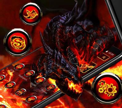 Cool fire dragon theme poster