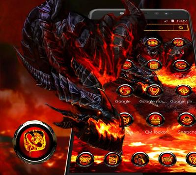 Cool fire dragon theme screenshot 2
