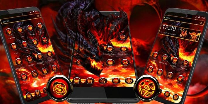 Cool fire dragon theme screenshot 3