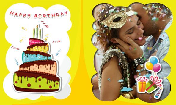 Photo on Birthday Greeting Cards + Birthday Wishes screenshot 1