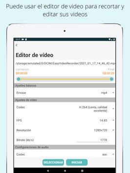 Grabador de video fácil Grabador de video de fondo captura de pantalla 14