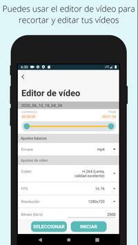Grabador de video fácil Grabador de video de fondo captura de pantalla 6