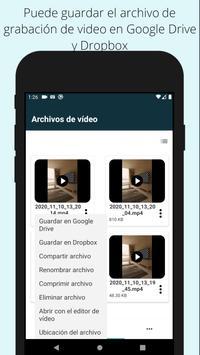Grabador de video fácil Grabador de video de fondo captura de pantalla 4