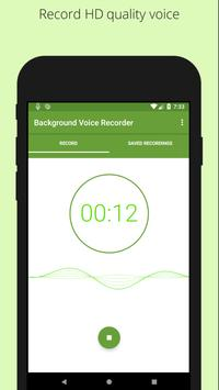 Easy voice recorder - Background voice recorder screenshot 2