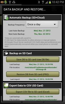 Car Maintenance Reminder Lite screenshot 3