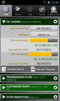 Car Maintenance Reminder Lite screenshot 4