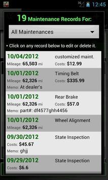 Car Maintenance Reminder Lite screenshot 6