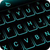 Simple Neon Blue Future Tech Keyboard Theme icon