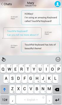 TouchPal IOS 11 Simple Style Theme تصوير الشاشة 2