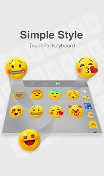 TouchPal IOS 11 Simple Style Theme تصوير الشاشة 3